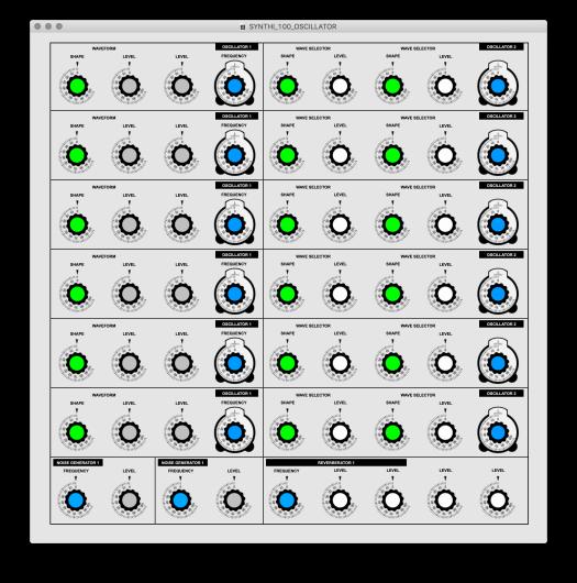 SYNTHI 100 WEB UI (OSCILLATOR)